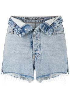 T by Alexander Wang turn down waist denim shorts