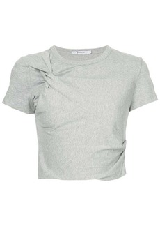 T by Alexander Wang Twist cropped T-shirt