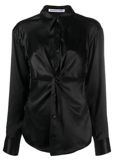 T by Alexander Wang twist cut-out blouse