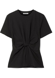 T by Alexander Wang Twist-front Cotton-jersey T-shirt