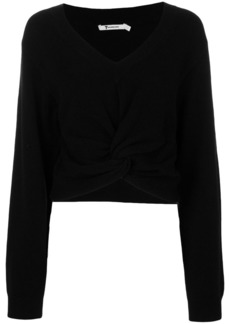 T by Alexander Wang twist front sweater