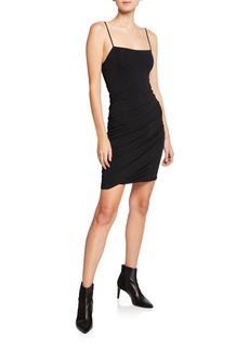 T by Alexander Wang Twisted Cami Spaghetti-Strap Crepe Jersey Dress