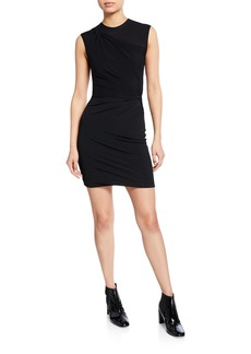 T by Alexander Wang Twisted Crepe Jersey Mini Dress