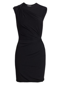 T by Alexander Wang Twisted Crepe Jersey Sheath Dress