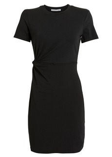 T by Alexander Wang Twisted Cut-Out Jersey Dress