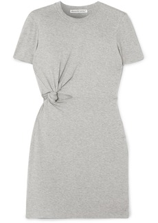 T by Alexander Wang Twisted Cutout Stretch-cotton Jersey Mini Dress