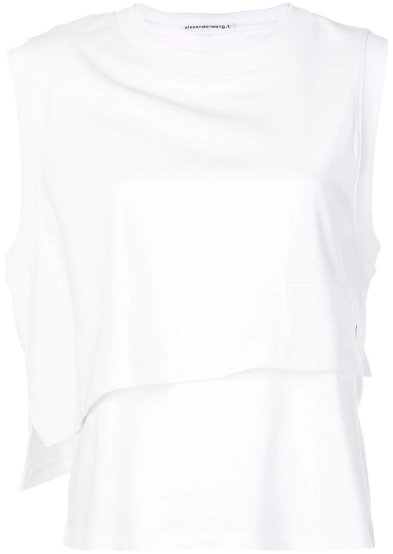 T by Alexander Wang twisted layered tank top