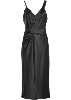 T by Alexander Wang Twisted Satin Dress