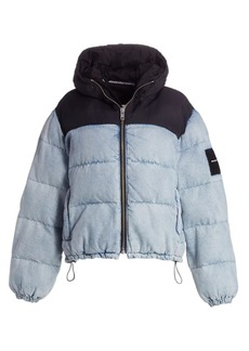 T by Alexander Wang Two-Toned Hybrid Puffer Coat
