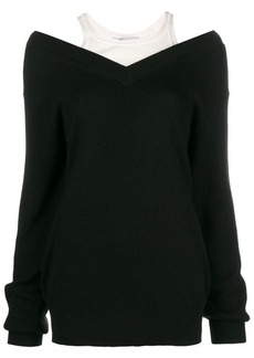 T by Alexander Wang V-neck combined sweater