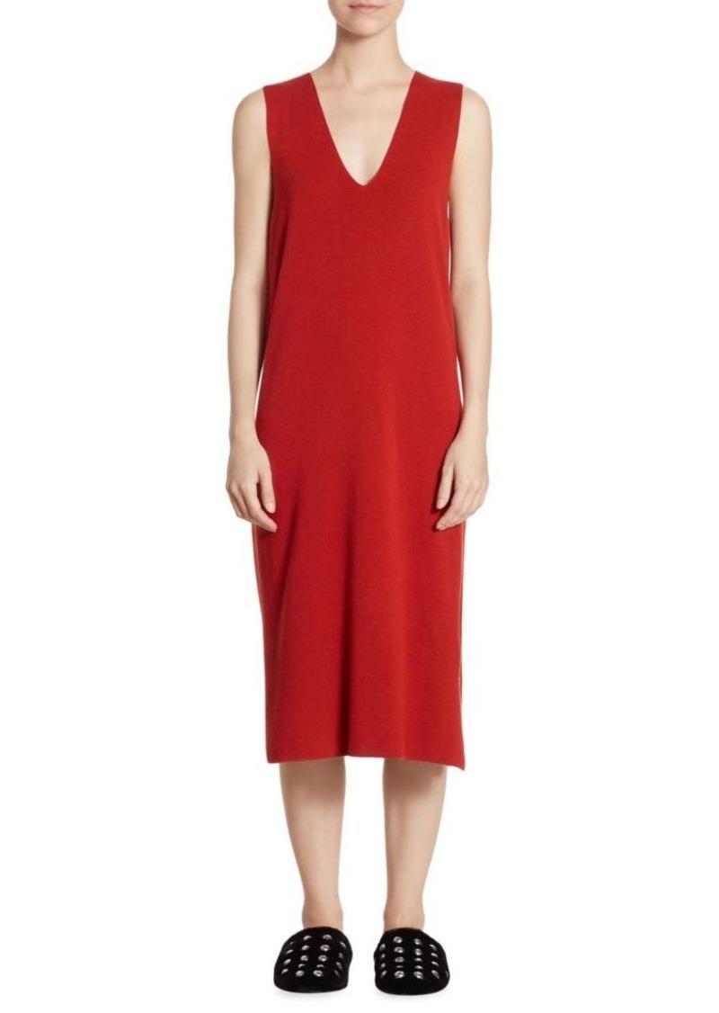 T by Alexander Wang V-Neck Midi Dress
