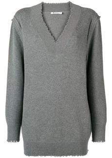 T by Alexander Wang V-neck sweater dress
