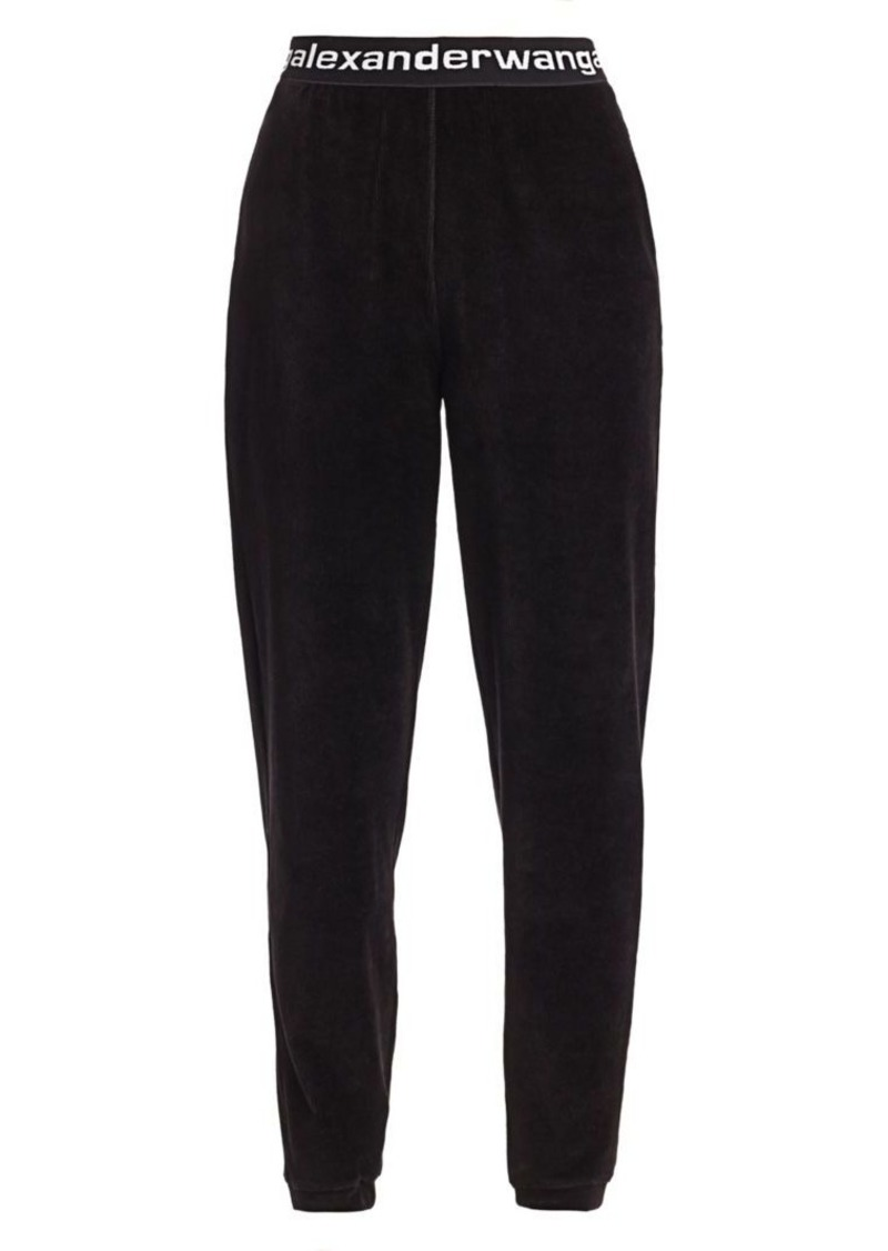 T by Alexander Wang Velour Sweatpants
