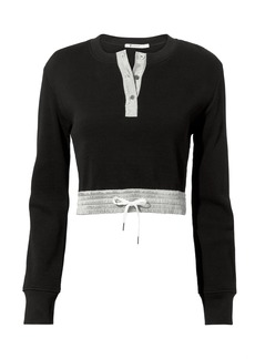 T by Alexander Wang Waffle Cropped Top