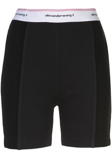 T by Alexander Wang wash + go logo bike shorts