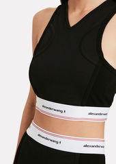 T by Alexander Wang Wash & Go Logo Crop Top