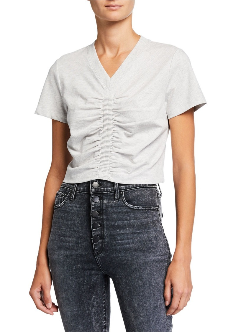 T by Alexander Wang Wash & Go Ruched Jersey Top