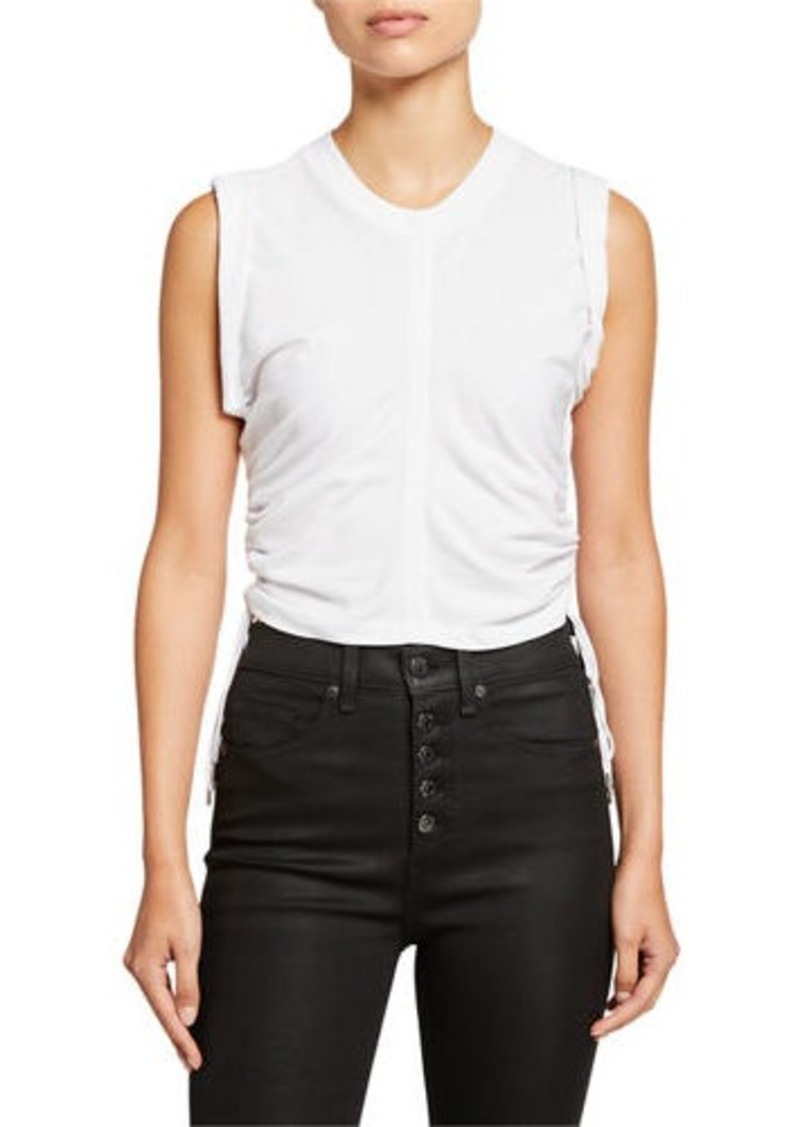 T by Alexander Wang Wash & Go Side-Tie Crop Top