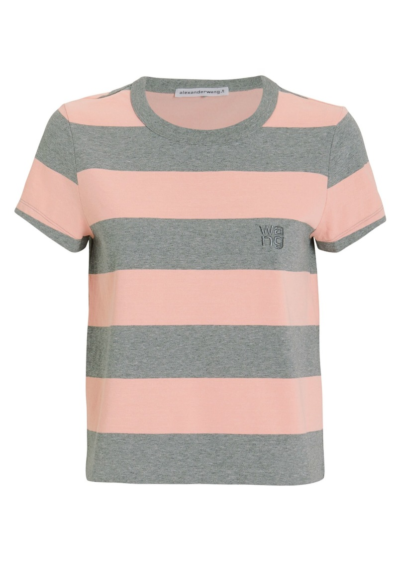 T by Alexander Wang Wash & Go Striped Jersey Tee