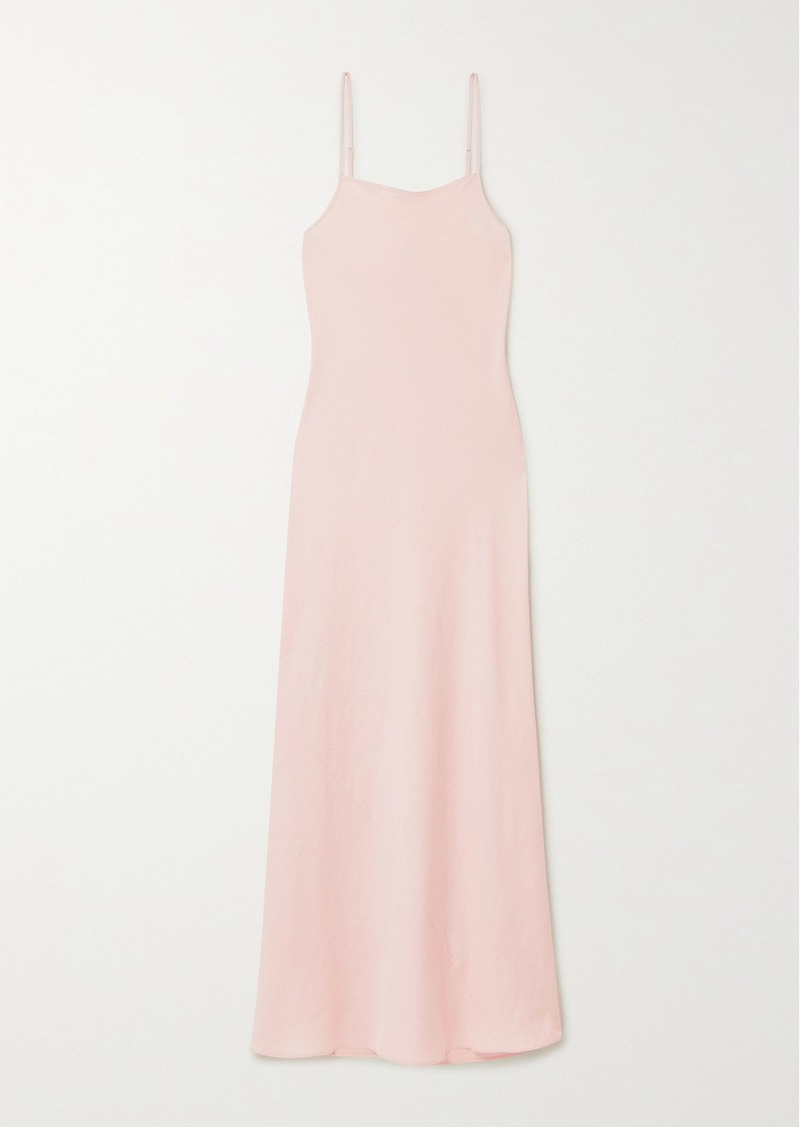T by Alexander Wang Wash And Go Satin Maxi Dress