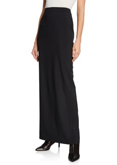T by Alexander Wang Washable Wool High-Rise Long Skirt