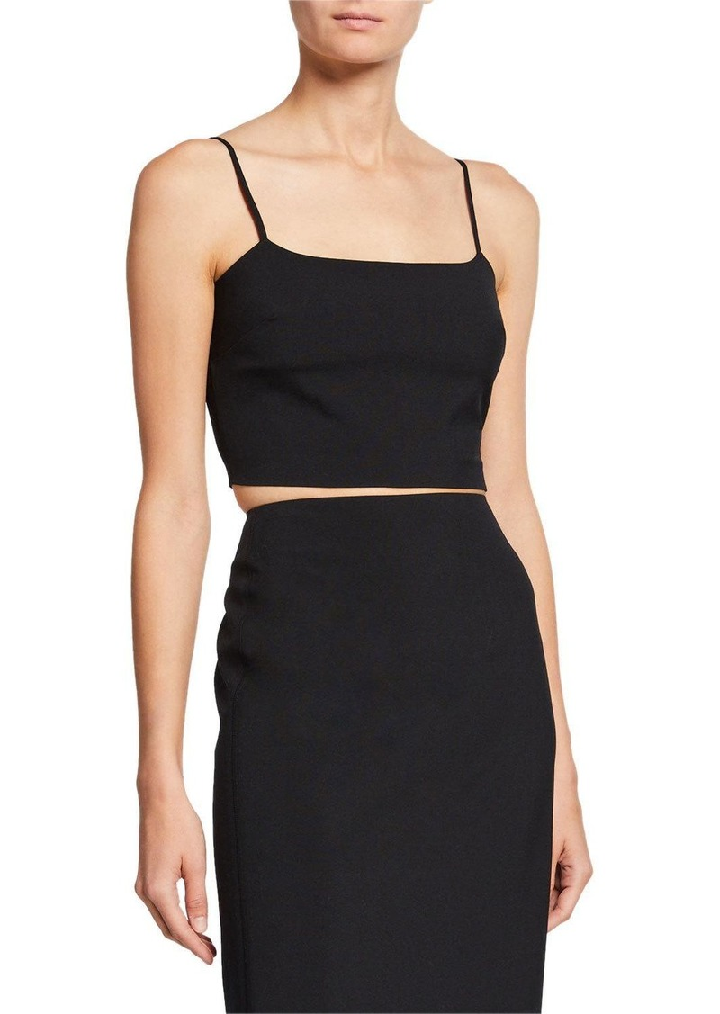 T by Alexander Wang Washable Wool Square-Neck Crop Top