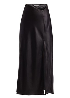 T by Alexander Wang Wet Shine Midi Skirt