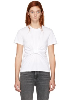 T by Alexander Wang White Twist Front T-Shirt