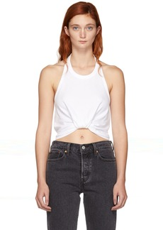 T by Alexander Wang White Twist Halter Top