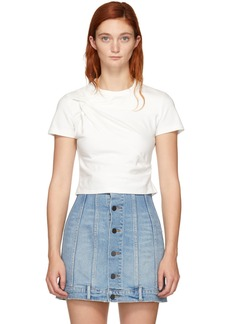 T by Alexander Wang White Twist Top T-Shirt