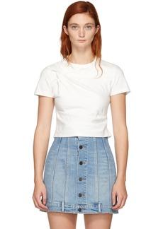 T by Alexander Wang White Twist Top T-Shirt