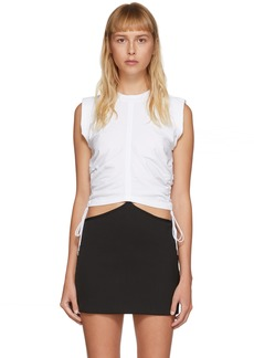 T by Alexander Wang White Wash & Go Twist Tank Top
