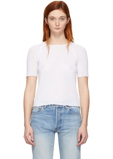 T by Alexander Wang White Wool Wash & Go T-Shirt