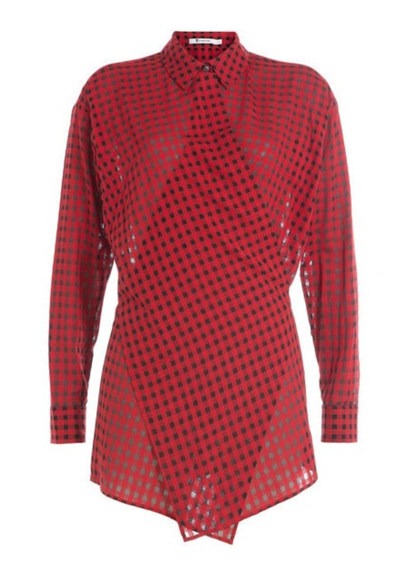 T by Alexander Wang Wrap Around Printed Shirt