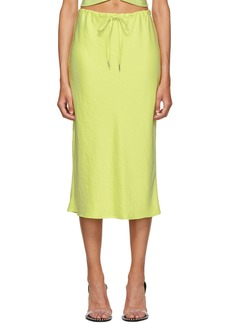 T by Alexander Wang Yellow Wash & Go Skirt