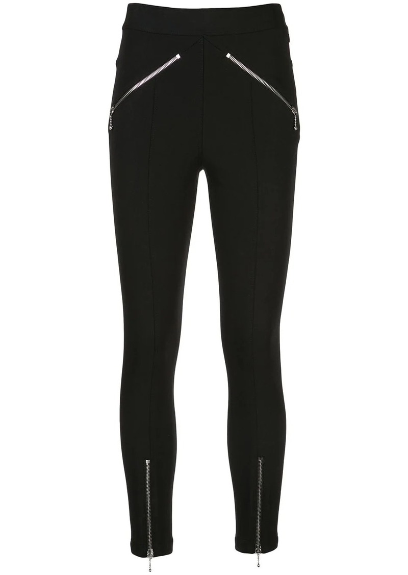 T by Alexander Wang zip-embellished leggings