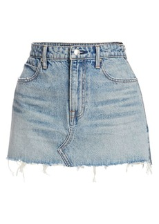 T by Alexander Wang Zipper Denim Mini Skirt