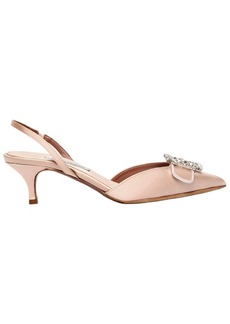 Tabitha Simmons 50mm Bells Swarovski Satin Pumps