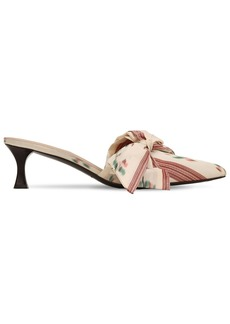 Tabitha Simmons 50mm Satin Mules W/ Bow