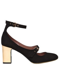 Tabitha Simmons 75mm Tutu Suede Double Strap Pumps
