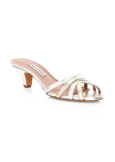 Tabitha Simmons Alvy Leather Mule Sandals