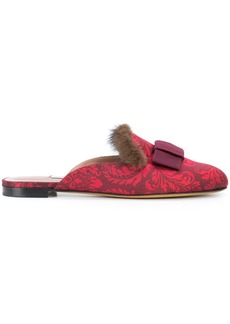 Tabitha Simmons baroque printed slippers