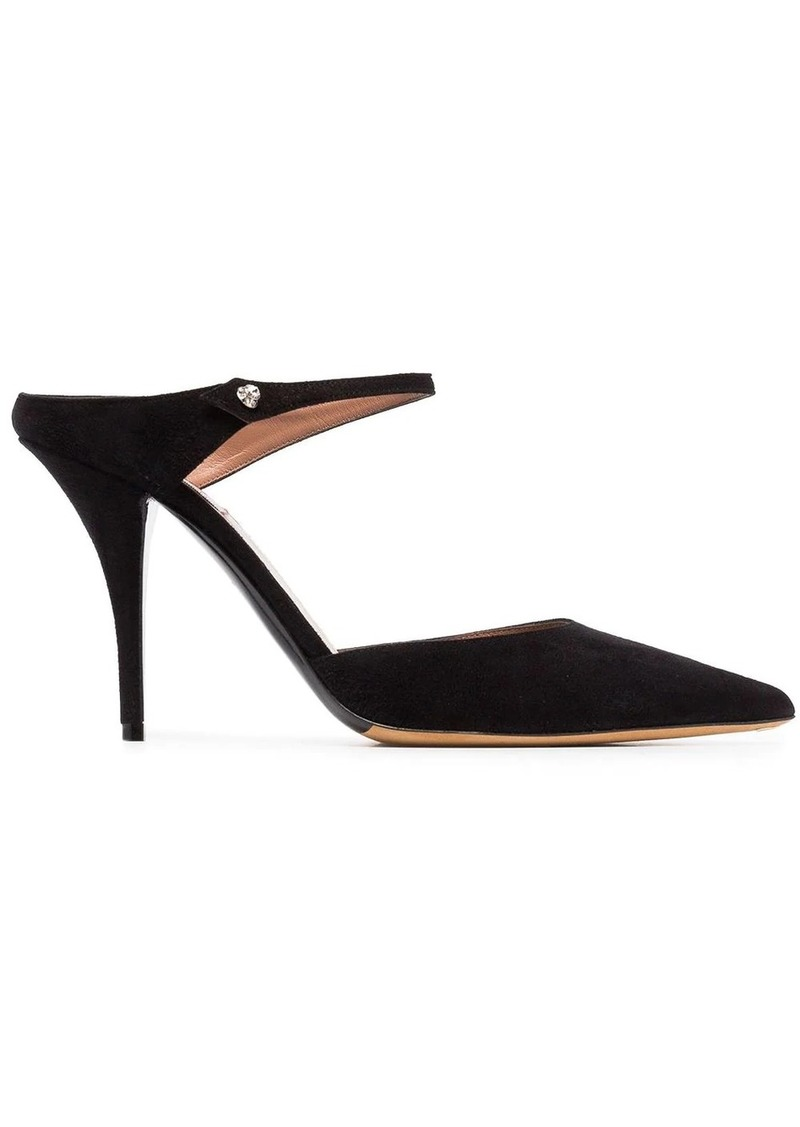 Tabitha Simmons black Allie 95 suede mules