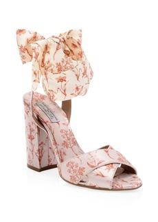 Tabitha Simmons x Johanna Ortiz Connie Wrap Satin Sandals