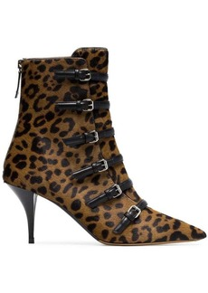 Tabitha Simmons Dash 75 buckle ankle boots