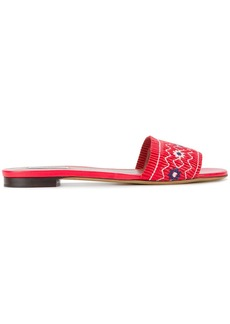 Tabitha Simmons Dizzy floral embroidered sandals