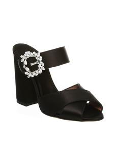 Tabitha Simmons Embellished Velvet Sandals