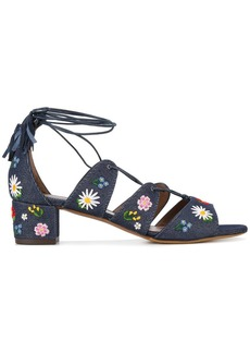 Tabitha Simmons embroidered denim sandals