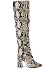 Tabitha Simmons Izzy snakeskin print boots