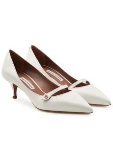 Tabitha Simmons Layton Mary-Jane Leather Kitten Heels